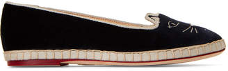 Charlotte Olympia Capri Cats Embroidered Espadrille Flats