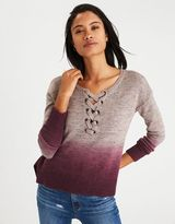 American Eagle Outfitters AE Lace-Up Front Sweater