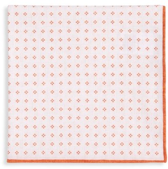 Brunello Cucinelli Dotted Floral-Print Pocket Square
