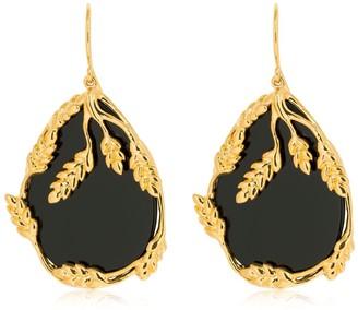 Aurélie Bidermann Francoise Onyx Pendant Earrings