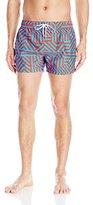 2xist Men's Ibiza Pattern Swim Trunk
