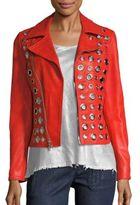 RtA Cleo Calfskin Leather Jacket