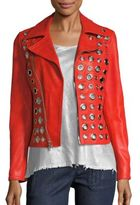 RtA Cleo Grommet Leather Moto Jacket