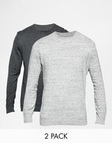 ASOS BRAND ASOS Cotton Crew Neck Sweater 2 Pack SAVE 17%