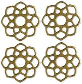 Thirstystone 4-Pc. Gold-Tone Moroccan Coaster Set