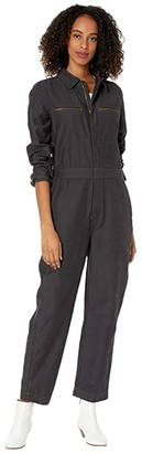 Madewell Zip Front Coverall (Black Coal) Women's Jumpsuit & Rompers One Piece