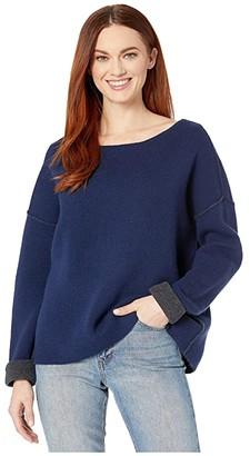 Vineyard Vines Reversible Boatneck Sweater (Deep Bay) Women's Sweater