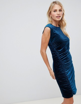 Y.A.S Velvur rouched velvet dress