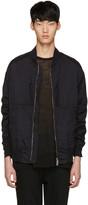 Diet Butcher Slim Skin Black Garment-dyed Flight Jacket