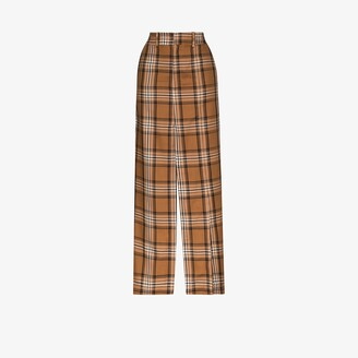 A.W.A.K.E. Mode Checked Split Maxi Skirt
