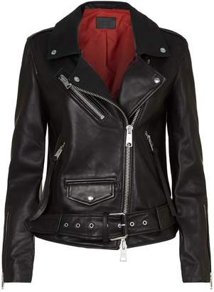 AllSaints Billie Leather Biker Jacket