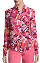 Michael Kors Floral Button Front Shirt