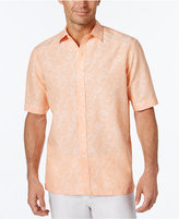 Tasso Elba Men's Linen Cotton Texture Short-Sleeve Shirt, Only at Macy's