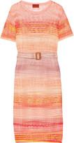 Missoni Belted crochet-knit dress