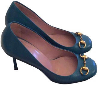 Gucci Turquoise Leather Heels