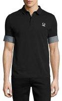 Fred Perry x Raf Simons Polo Shirt with Denim Cuffs, Black