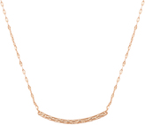 Bliss Gold Hammered Bar Pendant Necklace