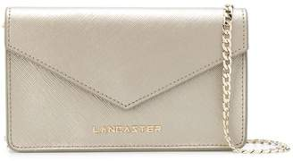 Lancaster grained logo plaque cross body bag