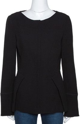 Roland Mouret Black Wool Rossini Peplum Jacket M