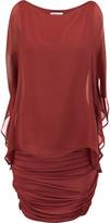 Bailey 44 Layered silk-chiffon and jersey mini dress