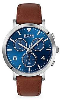 HUGO BOSS Men's Spirit Chronographic Leather-Strap Watch