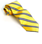 Black Brown 1826 Classic Fit Striped Silk Tie