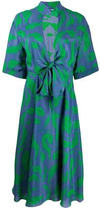 Off-White Leaves Illusion midi dress