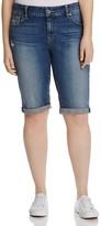 Lucky Brand Plus Ginger Roll Cuff Bermuda Shorts in Tamarac