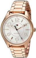 Tommy Hilfiger Women's Quartz Gold Casual Watch, Color:Beige (Model: 1781671)
