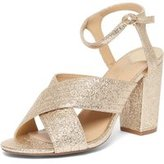 Dorothy Perkins Womens Wide Fit Gold 'Spring' X Front Sandals- Gold