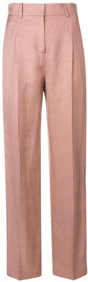 Esteban Cortazar High-Waisted Straight-Fit Trousers