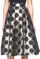 Ronni Nicole Women's Polka-Dot A-Line Skirt