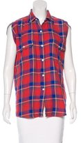 R 13 Plaid Sleeveless Top