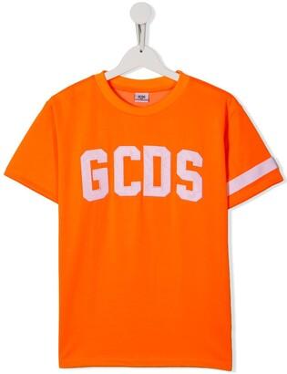 Gcds Kids TEEN embroidered logo T-shirt