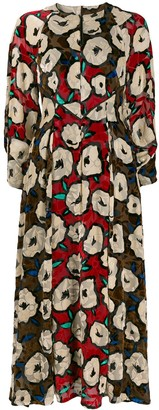 Talbot Runhof Printed Midi Dress