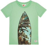 AO Surfboard-Print Cotton T-Shirt