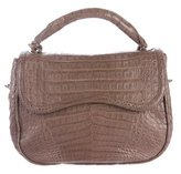 Nancy Gonzalez Crocodile Flap Satchel