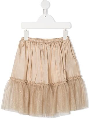 Il Gufo Ruffled Tulle Hem Skirt