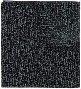 Saint Laurent twill Je t'aime printed scarf