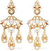 Percossi Papi Gold-plated, Pearl And Resin Earrings