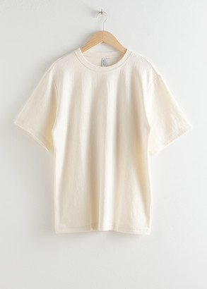 And other stories Oversized Washed Cotton T-Shirt