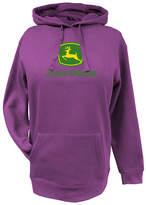John Deere Fuchsia Deer-Logo Kangaroo-Pocket Hoodie - Plus Too