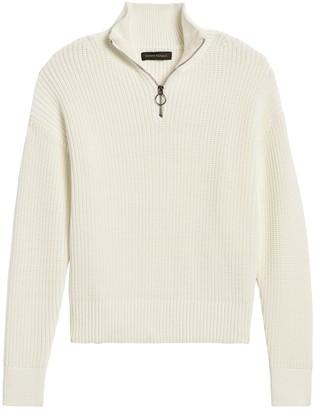 Banana Republic Ribbed Half-Zip Sweater