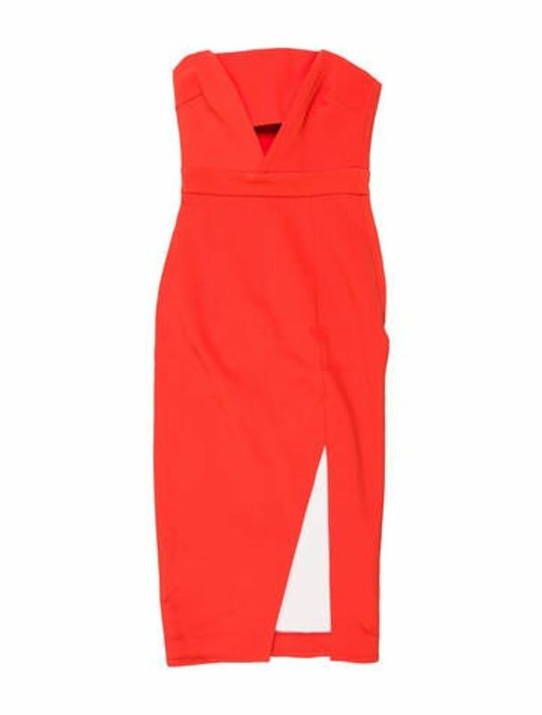 Nicholas Silk Knee-Length Dress Red