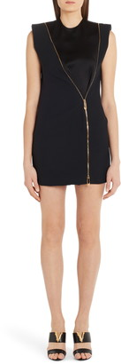 Versace Safety Pin Zipper Minidress