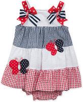 Rare Editions Colorblocked Seersucker Dress, Baby Girls (0-24 months)