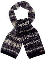 Mantaray Navy Jacquard Chunky Knit Scarf