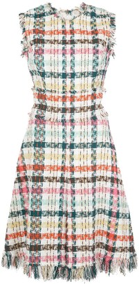 Oscar de la Renta Tweed Check Dress