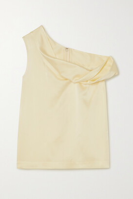 3.1 Phillip Lim - Draped Off-the-shoulder Hammered-satin Top - Cream