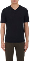 Vince Men's Raw-Edge Linen V-Neck T-Shirt